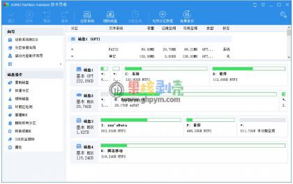 傲梅分区助手(AOMEI Partition Assistant)v9.1 技术员版